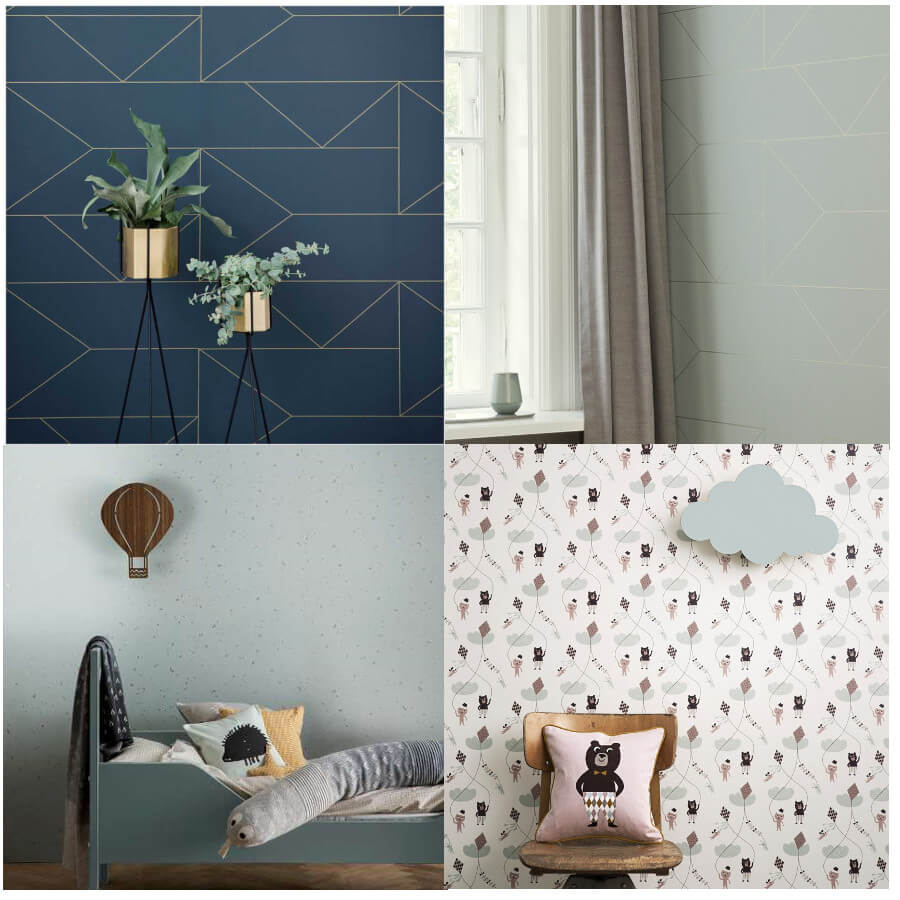 Behang - Ferm Living - collage