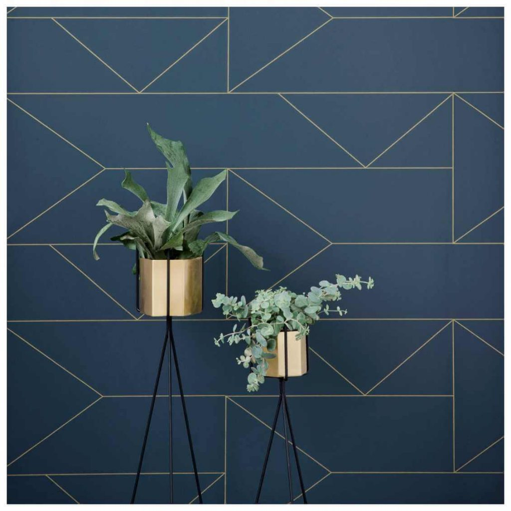 Behang - Ferm Living - Lines Blue